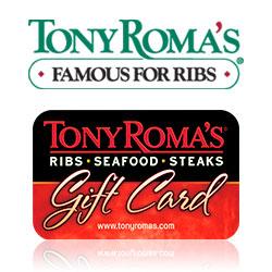 Check your Tony Roma's gift card balance