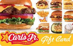 Carls Jr gift card