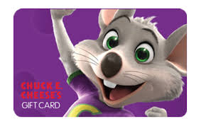 Chuck E Cheese gift card
