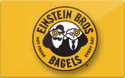 Einstein Bros bagels gift card