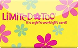 Limited Too gift card
