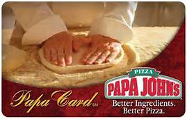 Papa Johns Gift card