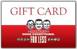 Pep Boys gift card