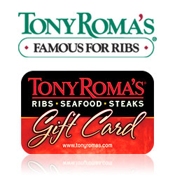 Check your Tony Roma's gift card balance