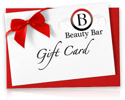 Beauty Bar gift card