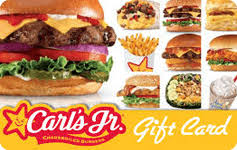 Carls Jr gift card