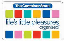 Container store gift card