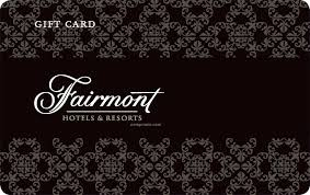 Fairmont Hotels gift card