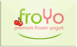 Froyo gift card