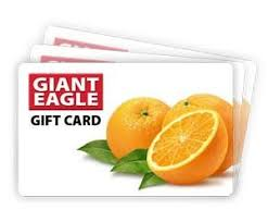 Giant eagle gift card