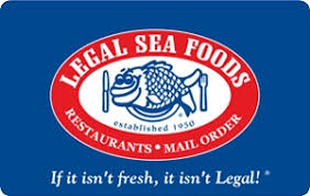 Legal Seafoods gift card