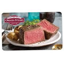 Omaha steaks gift card