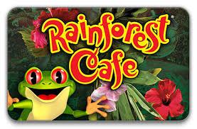 Rainforest Cafe gift card
