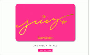 juicy couture gift card